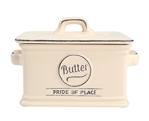 T&G Woodware Pride of Place Old Cream Butter Dish 18020 by t&g