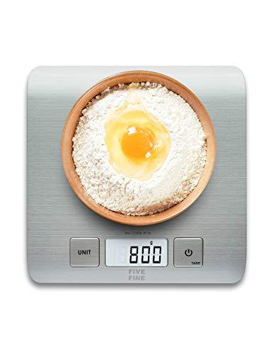 FiveFine Báscula de Cocina Grande, Balanza Cocina de Acero