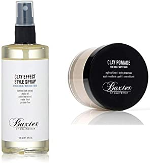 Baxter of California Clay Effect Style Spray & Clay Pomade Kit