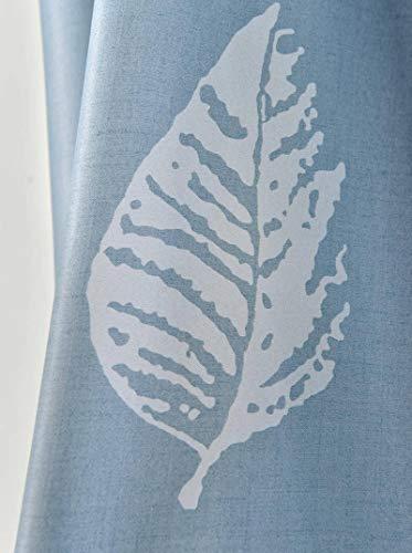 N-B Cortinas Grises Modernas con diseño de Hojas, Cortinas de Ventana Cortas para Sala de Estar, Cocina, balcón, Puerta Pastoral