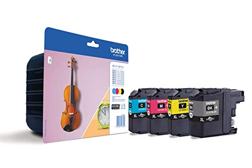 Brother Original XL-Tintenpatronen LC-127 (schwarz, cyan, magenta, gelb) im Value-Pack (für Brother DCP-J4110DW, MFC-J4410DW, MFC-J4510DW, MFC-J4610DW, MFC-J4710DW)