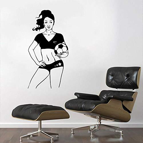 wZUN Vinyl Sexy Football Player Wall Sticker Football Sports Sticker Home Living Wall Art Decoration 68X127cm