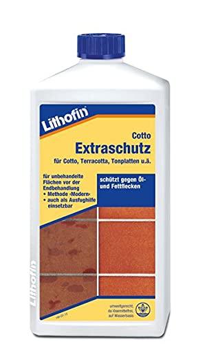 Lithofin Cotto Extraschutz 1 l - Imprägnierung Cotto Terrakotta Tonplatten - SCHUTZ vor Öl- und Fettflecken UMWELTGERECHT