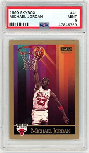Michael Jordan 1990-91 Skybox Basketball Card #41 Graded PSA 9 MINT