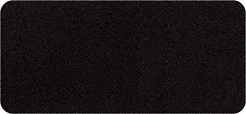 Salonloewe Fußmatte waschbar schwarz 30 x 60 cm Schmutzfangmatte