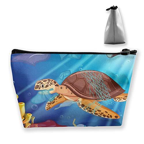 Sacs en plastique en forme de tortue de mer et sac de rangement portable pour cosmétiques, pinceaux de maquillage, produits de toilette, voyage