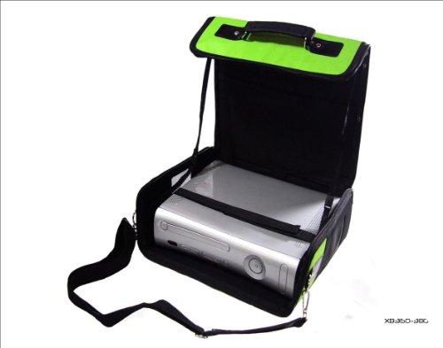 C y G XBox 360Green & Black Deluxe Console Carry Case bolsa