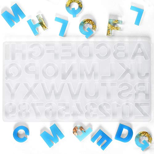 Timoo Alphabet Mold for Resin Backward, Letter Molds for Resin, Alphabet Silicone Molds for Resin, Alphabet Resin Mold, Resin Letter Molds, Resin Casting Alphabet Mold for Keychains, Crayons, Soap