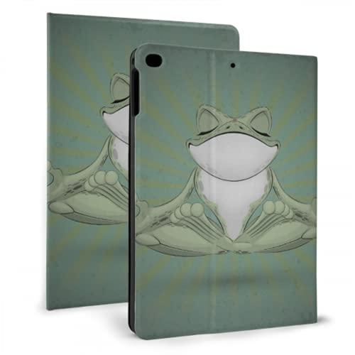 AlAlAl Funny Tree Frog Meditation Yoga Frog Funda para iPad Book Cover Compatible con iPad Mini 4 / Mini 5/2018 6th / 2017 5th / Air/Air 2 con Auto Wake/Sleep