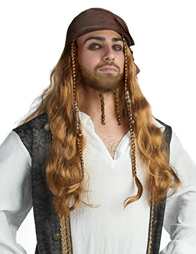 DEGUISE TOI - Perruque Jack Le Pirate Adulte - Taille Unique