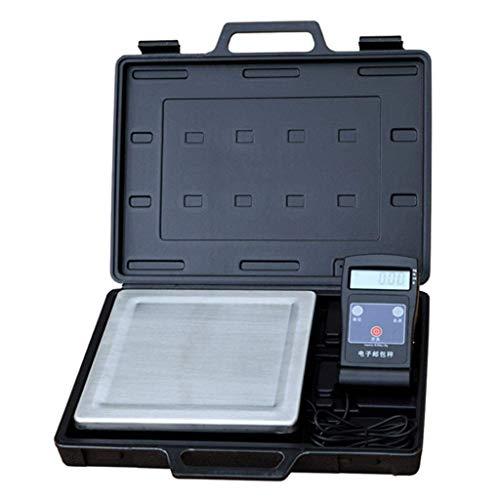 yunyu Báscula electrónica de Alta precisión de 80 kg Que Puede Mover Entrega urgente Logística Maleta portátil dedicada Báscula para Paquetes (Color: Negro, Tamaño: 80 kg / 20 g) Básculas de Cocina