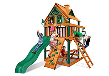 Chateau Treehouse Tower Swing Set by Gorilla Playsets