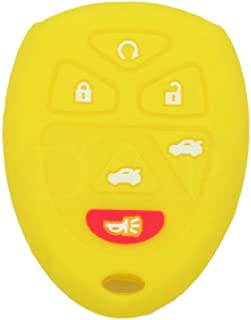 SEGADEN Silicone Cover Protector Case Skin Jacket fit for CHEVROLET GMC SATURN 6 Button Remote Key Fob CV4608 Yellow