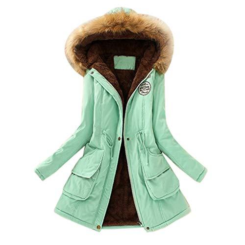 Cappotto Invernale da Donna, SANFASHION Bekleidung Taglia Grande, con Cappuccio, Slim Fit, Maniche Lunghe, alla Moda, con Cappuccio giacca donna in lana Blu Scuro s