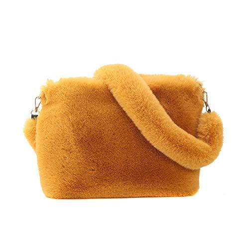 Modische frauen plüschtasche, herbst und winter stil umhängetasche, tragbare pelz tasche, 35x29x10 cm, weich und bequem, verwendet für einkaufen, feiern und...