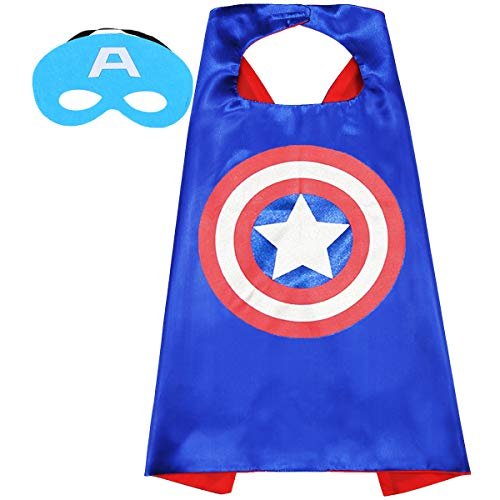 Aodai Superhero Capes and Dress up for Kids - Halloween Capes and Masks Compatible Superhero Capes Best Gift for Kids