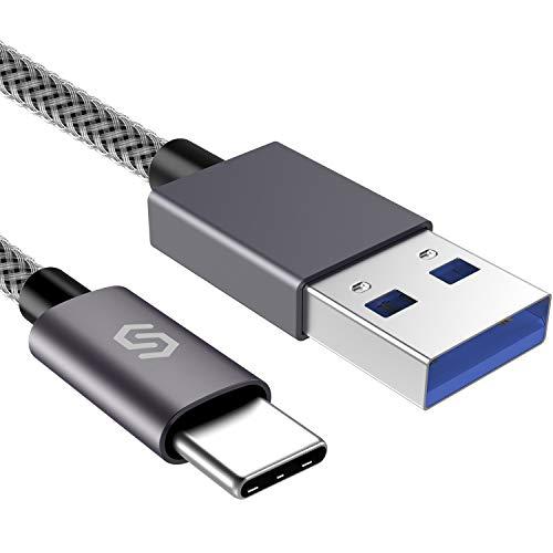 Syncwire USB C Kabel auf USB 3.0 Ladekabel - 2M Schnell USB Typ C Kabel für Type C Geräte, Samsung Galaxy S8/S9/S10, Huawei P20/P10/P30/P9, HTC 10/U11, Nexus 5X/6P, OnePlus 2 & mehr - Nylon Grau