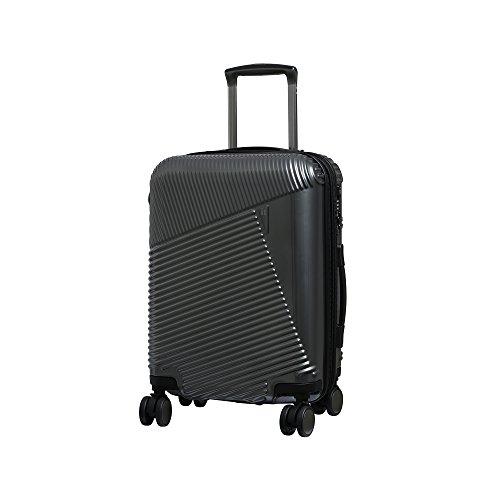 it luggage Metamorphic 8 Wheel Hard Shell Single Expander Suitcase Cabin with TSA Lock Maleta, 54 cm, 56 Liters, Gris (Charcoal Grey)
