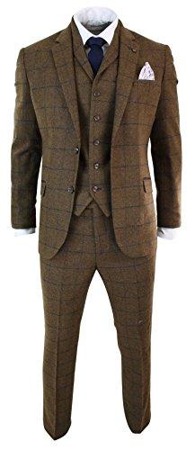 Cavani Herrenanzug Tweed Fischgr�te Design Kariert 3 Teilig Wolle Preis