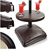Shademobile Table Umbrella Base w/ Easy Rolling Outdoor Umbrella Stand (up to...