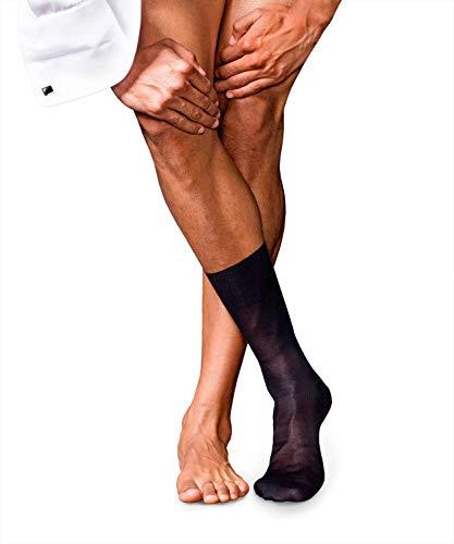 FALKE Herren No. 4 Pure Silk Socken, Dark Navy, 43-44
