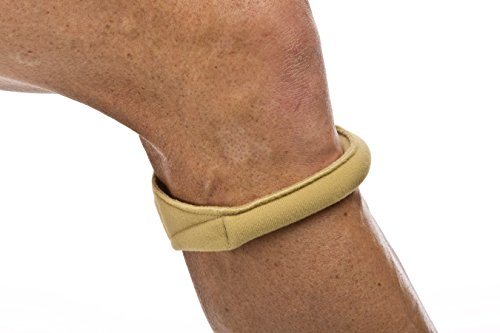 Cho-Pat Original Knee Strap - Recommended by Doctors to Reduce Knee Pain from Arthritis and Running - Tan (Small, 10