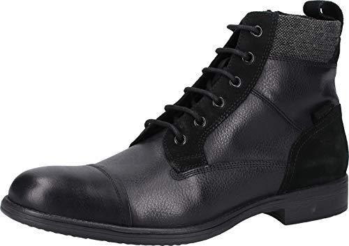 Geox Herren U JAYLON J Klassische Stiefel, Schwarz (Black C9999), 44 EU