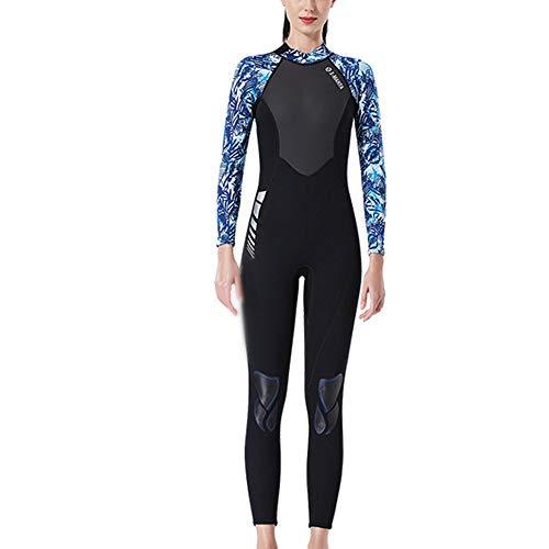Traje De Neopreno Para Mujer Traje de neopreno for mujer Traje de baño completo de natación de 3 mm Protección UV Traje de baño húmedo for surf Kayak Deportes acuáticos ( Color : A , Size : XL )