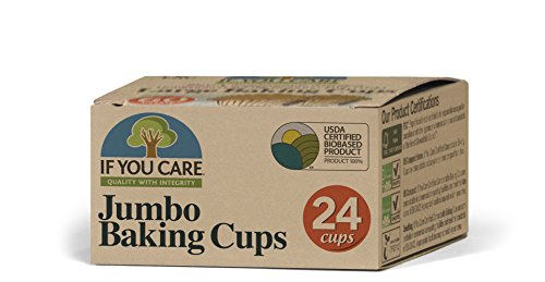 If You Care Unbleached Cupcake Liner Baking Cups - 24 Pack of 24-Count Boxes – Extra Large Jumbo Size - Made of Silicone Coated, Greaseproof Parchment Paper, Compostable Muffin Holders