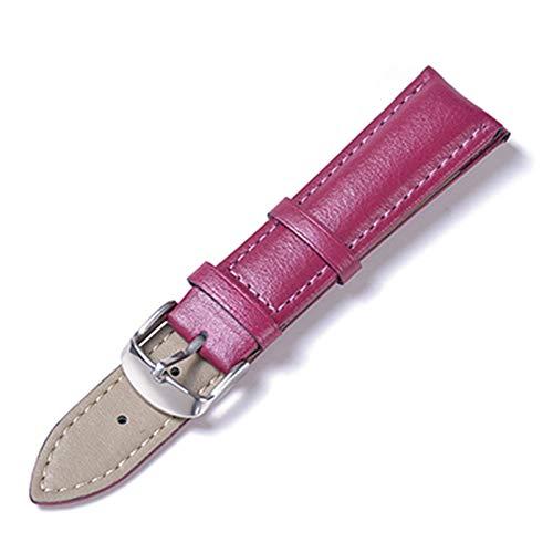 Banda de Reloj de Cuero de Cuero 12-22mm Accesorios Reloj de la Correa de Reloj de liberación rápida Púrpura, 20mm