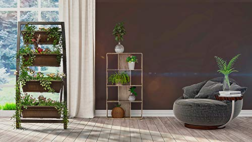 Elevated Planter with 4 Container Boxes - Indoor and Outdoor