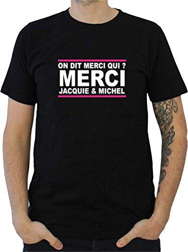 Fait main Tee Shirt Jacquie et Michel Taille S marquage Face Avant Autres Tailles Dispo dans Notre Boutique