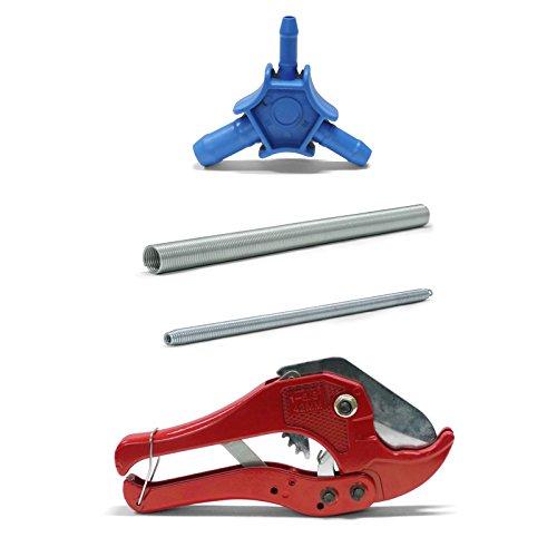 Pipetec Montage-Werkzeug-Set 20x2 mm Rohrschere Kalibrierer Biegefeder Verbundrohr
