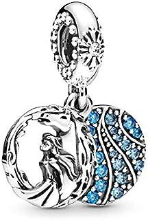 ZDJDMZ Cuentas Colgantes De Moda 2 Unids/Lote Frozen and Knock Crystal Charm Colgante Beads Se Adapta A Pulseras Originales Collares para Mujeres Fabricación De Joyas
