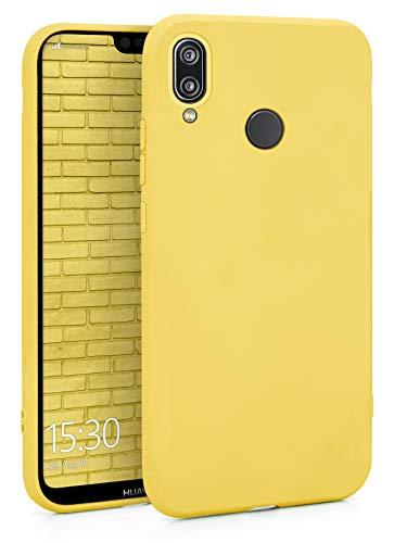 MyGadget Funda Slim en Silicona TPU para Huawei P20 Lite - Anti Polvo - Carcasa Mate Protectora Ultra Delgada 1mm Suave Cómoda y Ligera - Amarillo