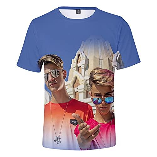 Adexe & Nau Camiseta De Manga Corta Moda Casual Unisex Impreso Loose Top Street Fun Manga Corta (Tamaño: Xxs-3Xl)