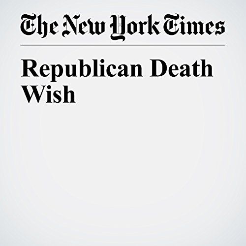 Republican Death Wish copertina