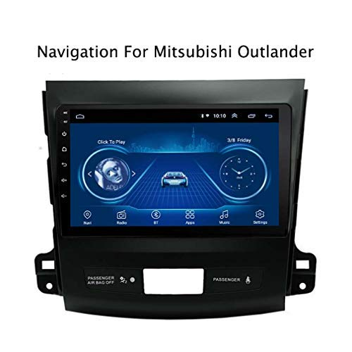 DUMXY Android 8.1 Full Touch Screen 9 Zoll Auto GPS Radio Navigation Für Mitsubishi Outlander 2006 2007 2008 2009 2010 2011 2012 | 2 DIN | LCD-Touchscreen | Lenkradkontrolle