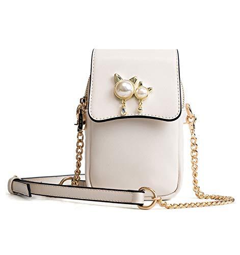 Meisje Mobiele Telefoontas Messenger Bag Zomer Mini Chain Handtas Wild Schoudertas (Kleur: wit)