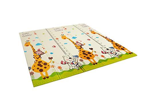 Alfombra infantil plegable Suelo para bebes acolchado 2 caras, impermeable y lavable 180 cm x 160 cm (Modelo 4)