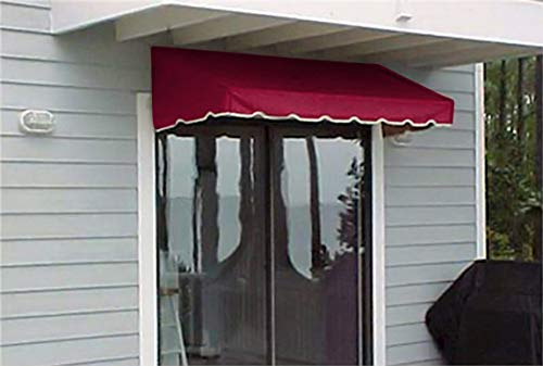 Window Awning or Door Canopy 4' Wide in Sunbrella Awning Canvas - Burgundy