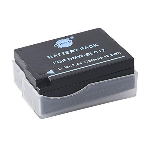 DSTE Replacement for DMW-BLC12 Battery Compatible Panasonic Lumix DMC-G5 G6 G7 GH2 GX8 FZ200 DMC-FZ2500 DMC-FZ2000 DC-G90 DC-G95 Leica Q Camera as DMW-BLC12E BP-DC12E Compatible Sigma BP-51