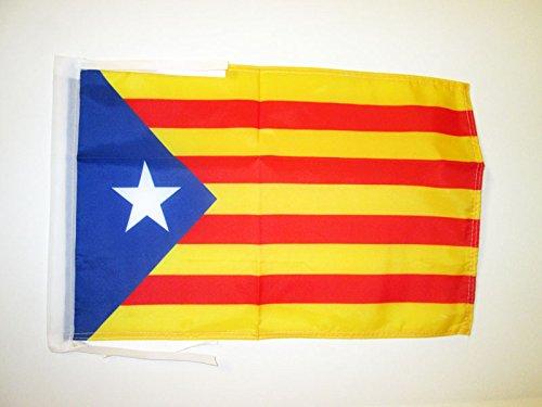 AZ FLAG Flagge KATALONIEN ESTELADA BLAVA 45x30cm mit Kordel - AUTONOMEN KATALANISCHEN Fahne 30 x 45 cm - flaggen Top Qualität