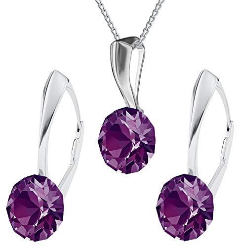 Crystals & Stones - XIRIUS - Schmuck-Set - Farbe Varianten !! - Silber 925 Schön Damen Schmuckset m...