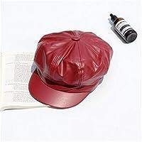ベレーハンチング帽 ベレー帽大人のキャップ - アーティストPUの女性のベレー帽ハット女性用帽子女性帽子カジュアルドームベアキャップコレクション帽子 トレンディな暖かい帽子 (Color : 3)