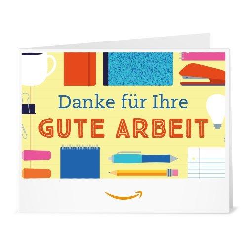 Amazon.de Gutschein zum Drucken (Danke für Ihre gute Arbeit)