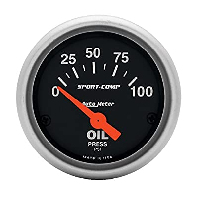 Auto Meter 3327 Sport-Comp Electric Oil Pressure Gauge