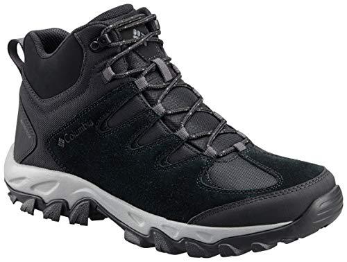 Columbia Men's Buxton Peak MID Waterproof Hiking Boot, Black, lux, 10.5 Regular US