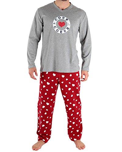 Pijama Largo Rojo Small