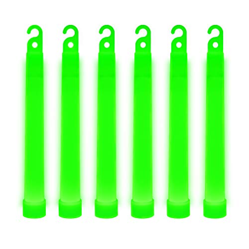 30 Ultra Bright Glow Sticks - Emergency Light Sticks for Camping Accessories, Parties, Hurricane Supplies, Earthquake, Survival Kit and More - Lasts Over 12 Hours (Green)